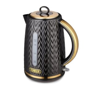 1.7L Stainless Steel Electric Kettle Tower Colour: Black