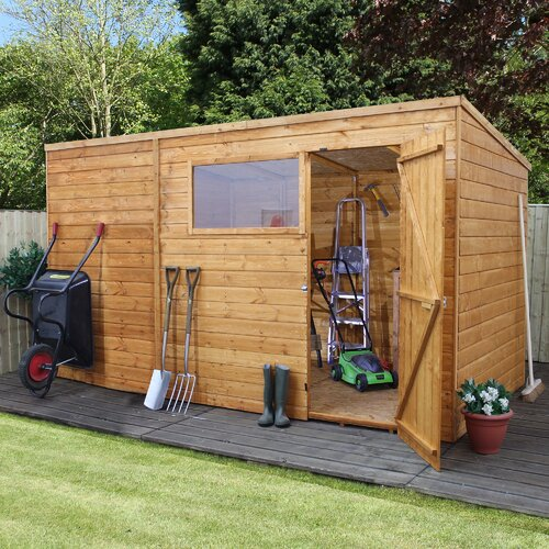 10 ft. W x 8 ft. D Solid Wood Garden Shed WFX Utility Installation Included: Yes