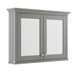 105cm x 75cm Surface Mount Mirror Cabinet Old London Finish: Storm Grey