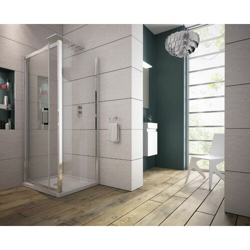 185 mm x 800 mm Pivot Framed Shower Door Belfry Bathroom