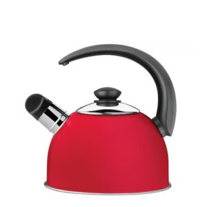 2.1 L Stainless Steel Whistling Stovetop Kettle Tramontina Colour: Red