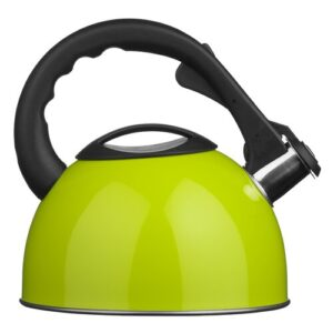 2.5L Stainless Steel Whistling Stove Top Kettle Symple Stuff Colour: Lime Green