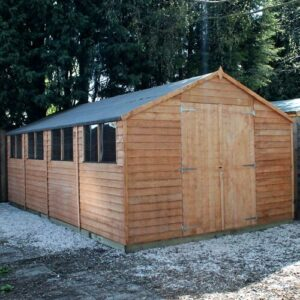 20 Ft. W x 10 Ft. D Solid Wood Garden Shed WFX Utility Installation Included: No