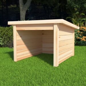 3 ft W x 3 ft D Solid Wood Garden Shed WFX Utility
