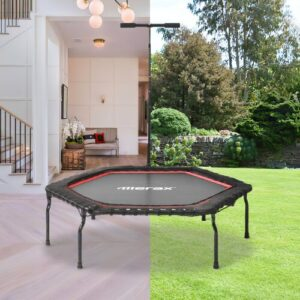 4' Hexagon Fitness Trampolines EGGREE Pad Colour: Red