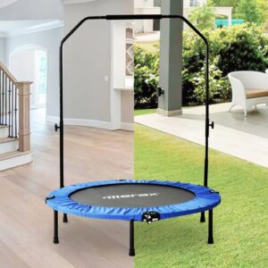 4' Round Portable Fitness Trampolines EGGREE Pad Colour: Blue