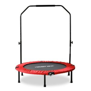 4' Round Portable Fitness Trampolines EGGREE Pad Colour: Red