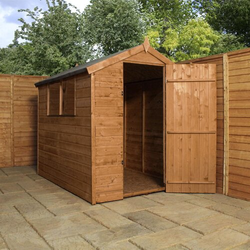 5 ft. W x 7 ft. D Solid Wood Horizontal Garden Shed WFX Utility