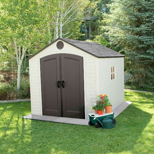 8 ft. W X 10 ft. D Plastic Garden Shed Lifetime