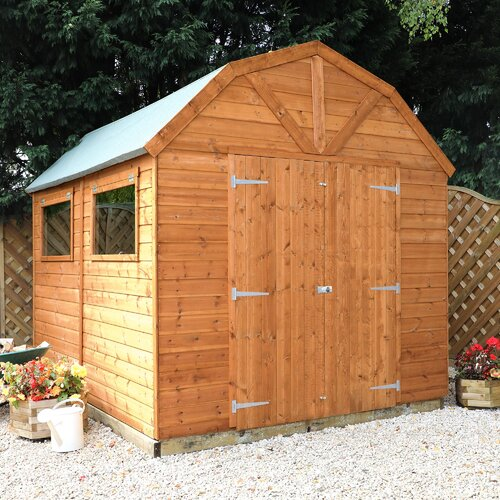 8 ft. W x 10 ft. D Solid Wood Garden Shed WFX Utility Installation Included: Yes