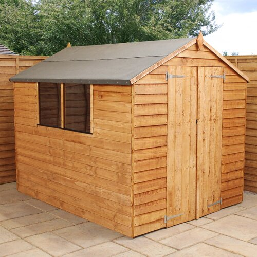 8 ft. W x 8 ft. D Solid Wood Garden Shed WFX Utility Installation Included: No