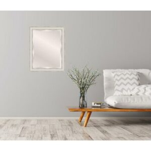 Alfredo Full Length Mirror House of Hampton Size: 53cm H x 73cm W, Finish: Silver/White, Mirror: Without facets