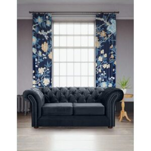Ally 2 Seater Chesterfield Sofa Willa Arlo Interiors Upholstery Colour: Navy Blue