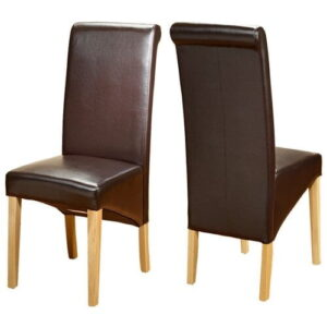 Ameswood Upholstered Dining Chair Ophelia & Co. Upholstery Colour: Brown