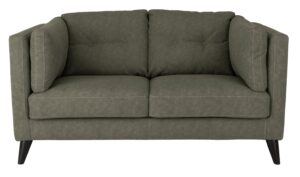 Argos Home Charlie Compact 2 Seater Faux Leather Sofa - Grey