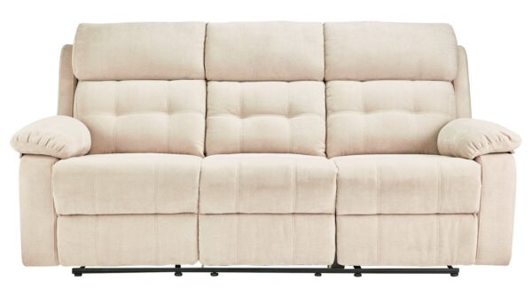 Argos Home June 3 Seater Fabric Recliner Sofa - Natural