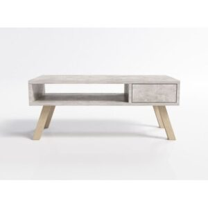 Athanas Coffee Table with Storage Norden Home Colour: Grey