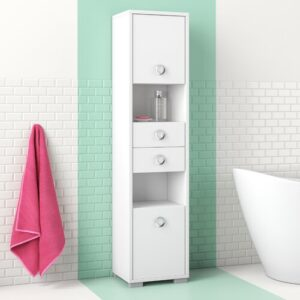 Ayer 40cm x 172cm Bathroom Cabinet Hashtag Home Colour/Finish: White