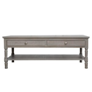 Berkshire Wooden Coffee Table with Storage Brambly Cottage Colour: Taupe