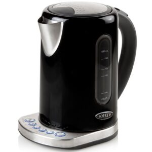 Bollitore 1.7L Stainless Steel Electric Kettle Boretti Colour: Black