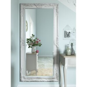 Boyers Full Length Mirror Three Posts Finish: Cream, Size: 170cm H x 84cm W x 3.5 cm D
