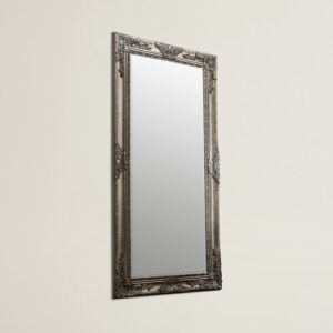 Boyers Full Length Mirror Three Posts Finish: Silver, Size: 170cm H x 84cm W x 3.5 cm D