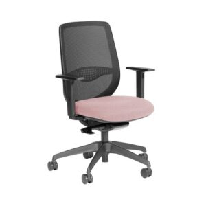 Buckmaster Ergonomic Mesh Desk Chair Ebern Designs Frame Colour: Black, Upholstery Colour: Pink
