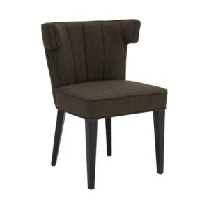 Bucyrus Upholstered Dining Chair (Set of 2) Corrigan Studio Upholstery Colour: Brown