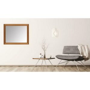 Burwood Andrea Full Length Mirror ClassicLiving Size: 40cm H x 90cm W, Finish: Gold, Mirror: Without facets