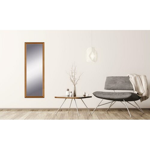 Burwood Andrea Full Length Mirror ClassicLiving Size: 49cm H x 139cm W, Finish: Gold, Mirror: Without facets