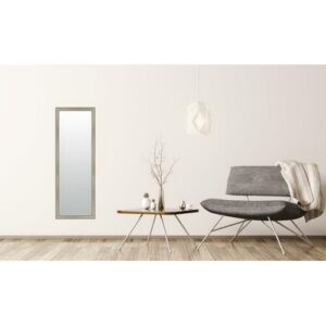 Burwood Andrea Full Length Mirror ClassicLiving Size: 49cm H x 139cm W, Finish: Silver, Mirror: Without facets