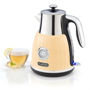 Cancan 1.6 L Stainless Steel Electric Kettle Klarstein Colour: Yellow and silver