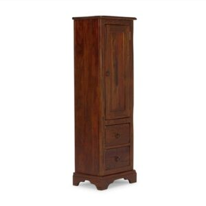 Catana 42 x 130cm Freestanding Bathroom Cabinet Massivum Colour: Stained and varnished in brown