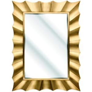 Cavin Rectangle Mirror Fairmont Park Finish: Gold