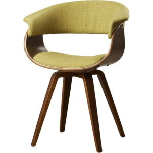 Chacko Upholstered Dining Chair Langely Street Upholstery Colour: Green, Frame Colour: Walnut