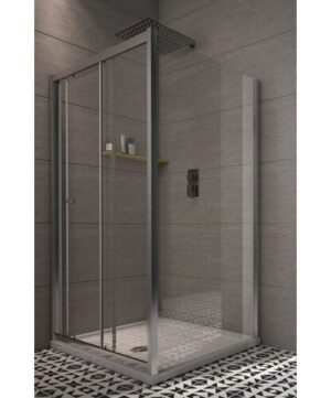 Chapa Rectangular Sliding Shower Enclosure Belfry Bathroom Size: 185 cm H x 100 cm W x 80 cm D