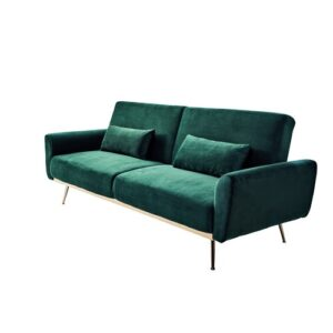 Chillax 3 Seater Clic Clac Sofa Bed Jahnke Upholstery Colour: Opal Green