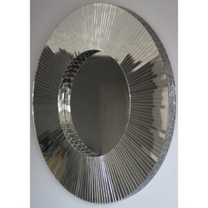 Chumasero Mirror Canora Grey Finish: Black, Shape: Circular