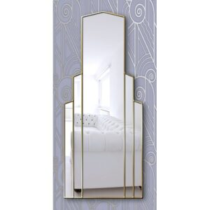 Chyna Full Length Mirror Canora Grey Finish: Gold