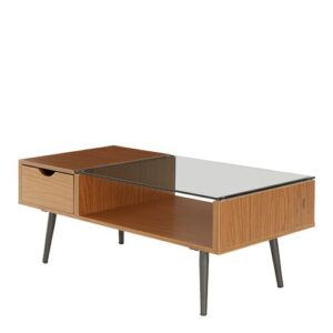 Cirillo Coffee Table with Storage Langely Street Table Base Colour: Pecan