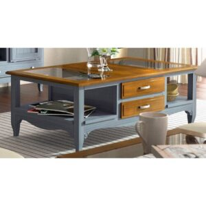 Clarisse Coffee Table August Grove Finish: Navy Blue/Brown