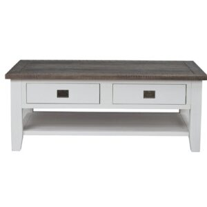 Coffee Table with Storage August Grove Colour (Table Base): White