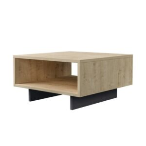 Coffee Table with Storage Symple Stuff Base Finish: Antracite, Top Finish: Oak