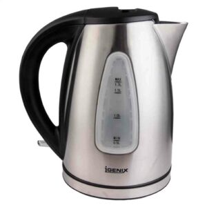 Cordless 1.7L Stainless Steel Electric Kettle Igenix
