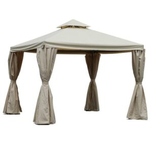 Cortland 3m x 3m Metal Patio Gazebo August Grove