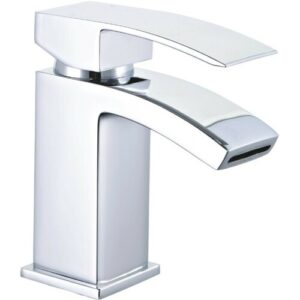 Crose Square Curved Monobloc Bathroom Basin Mixer Tap Belfry Bathroom