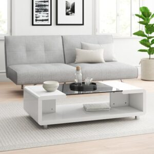 Crystal Coffee Table With Storage Zipcode Design