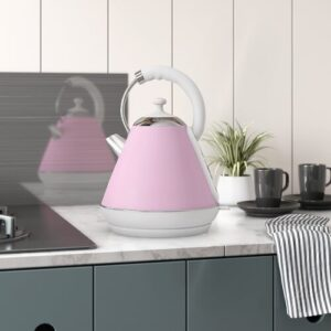 Dainty Legacy 1.8L Stainless Steel Electric Kettle SQ Professional Colour: Pink