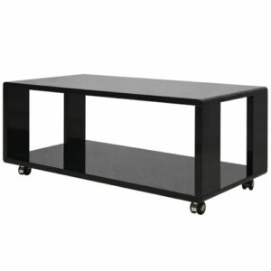 Deandra Coffee Table Brayden Studio Colour (Table Base): Black, Colour (Table Top): Black