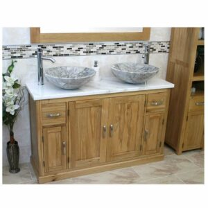 Delao Solid Oak 1230mm Free-Standing Vanity Unit Belfry Bathroom Sink Finish: Grey